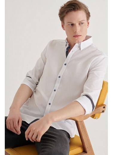Avva Erkek  Armürlü Gömlek A11Y2085 Beyaz